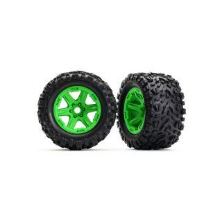 "Traxxas kolo 3.8"", disk zelený, pneu Talon EXT (pár)"