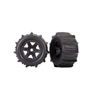 """Traxxas kolo 3.8"""", disk černý, pneu Paddle (pár)"""