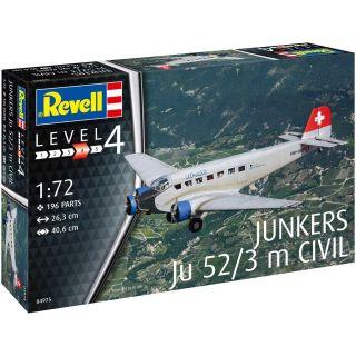 Plastic ModelKit letadlo 04975 - Junkers Ju52/3m Civil (1:72)