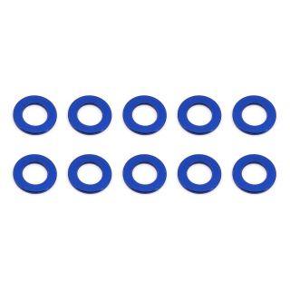Ballstud podložky, 5.5x0.5mm, modré alu, 10 ks.