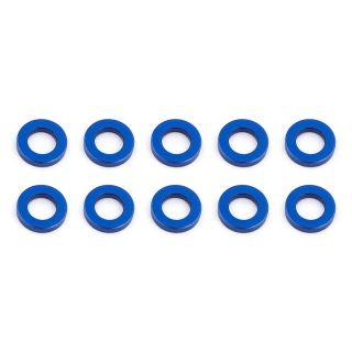 Ballstud podložky, 5.5x1.0mm, modré alu, 10 ks.