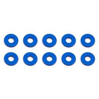 Bulkhead podložky, 7.8x1.0mm, modré alu, 10 ks.
