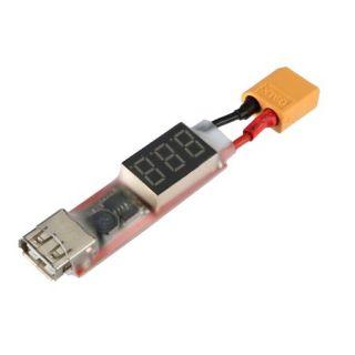 Stabilizátor pre vytvorenie USB nabíjača z akumulátora 6 -22V s Voltmetrom